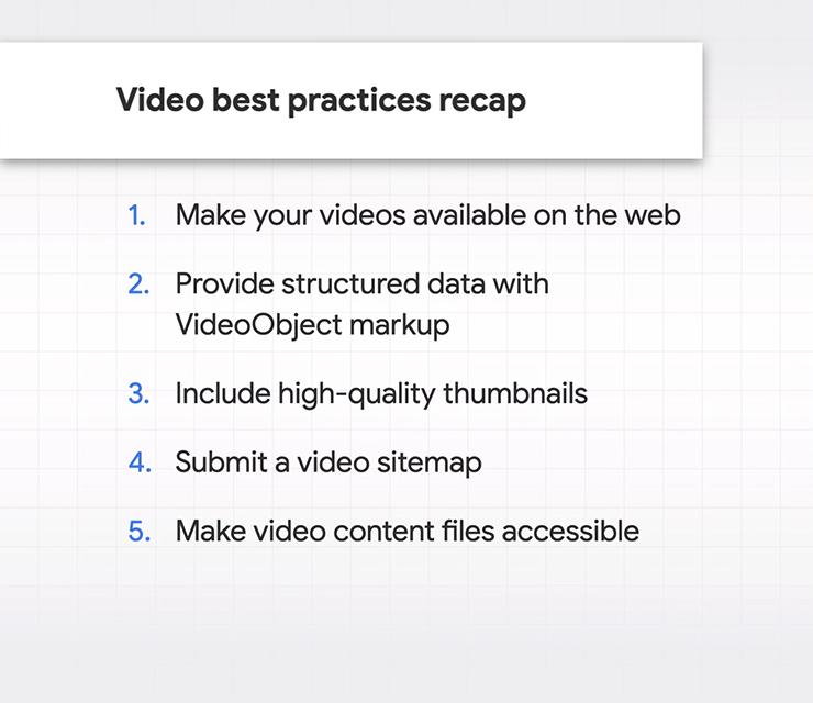 Gợi ý tối ưu video cho Google Search và Discover