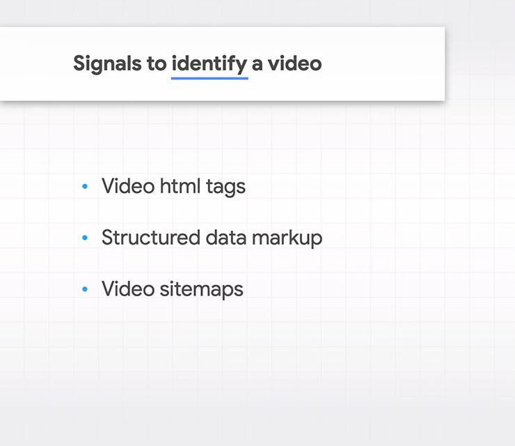 Các tín hiệu để Google nhận dạng video